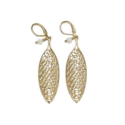 Serrv Sahi Filigree Brass Earrings