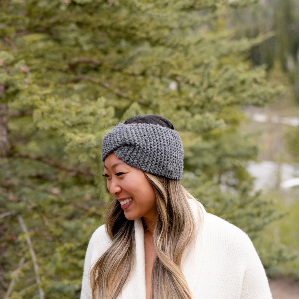 Andes Gifts Cusco Blended Ear Warmer: Grey
