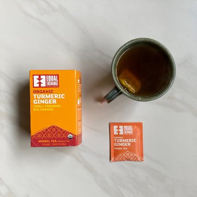 Equal Exchange Organic Turmeric Ginger Tea 20pc Box