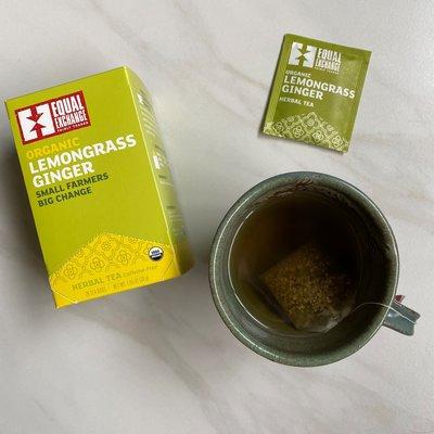 Equal Exchange Organic Lemongrass Ginger Tea 20pc Box