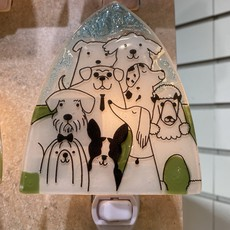 PamPeana Pack of Dogs Fused Glass Night Light