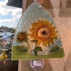 PamPeana Sunflower Fused Glass Night Light