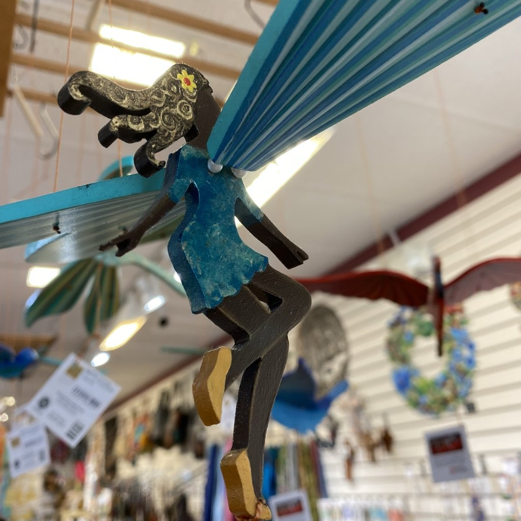 Tulia's Artisan Gallery Flying Mobile: Black Fairy