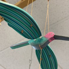 Tulia's Artisan Gallery Flying Mobile: Pink Anna's Hummingbird