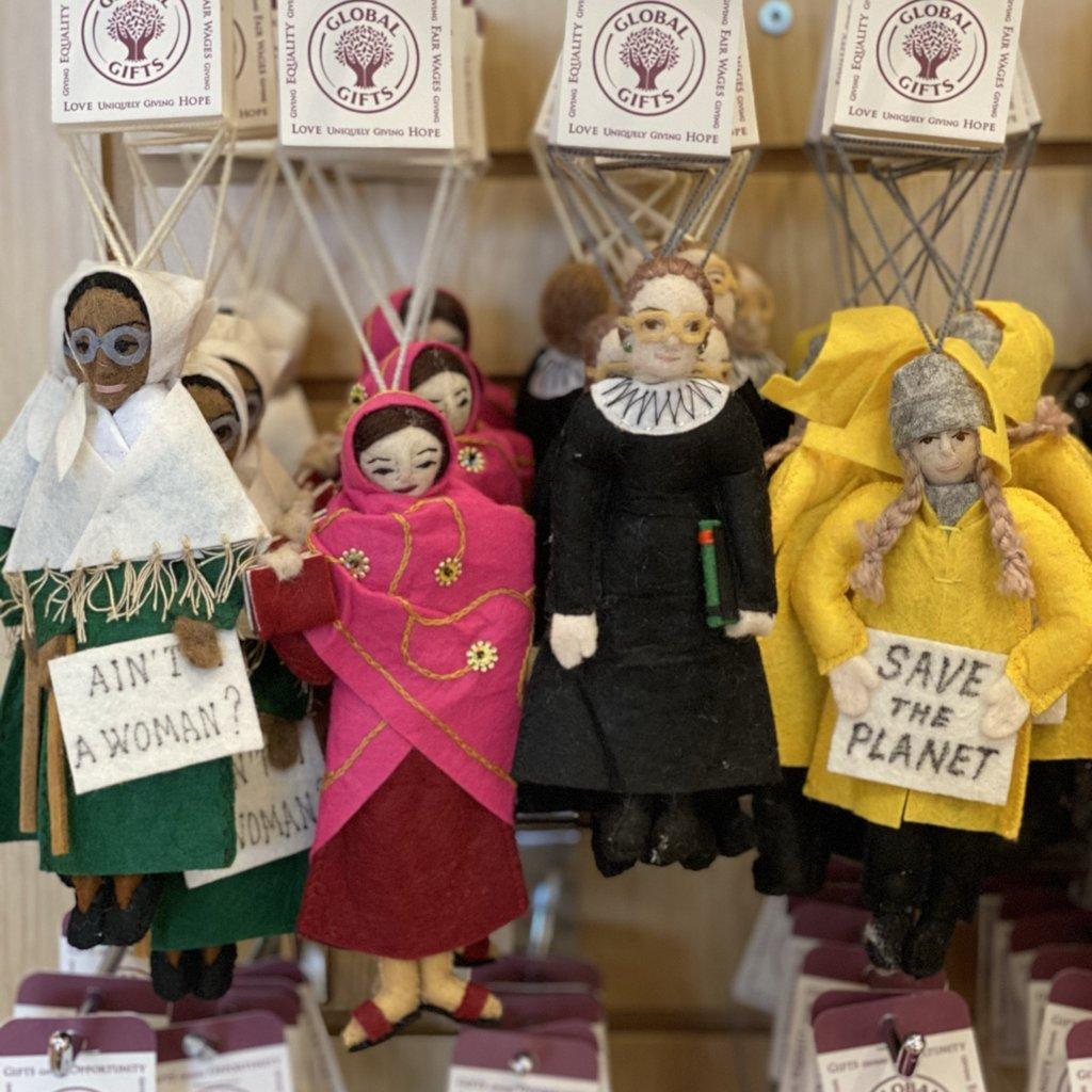 Silk Road Bazaar Sojourner Truth Felt Ornament