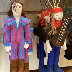 Silk Road Bazaar David Bowie Felt Ornament