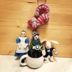 Silk Road Bazaar Alice in Wonderland Felt Ornament