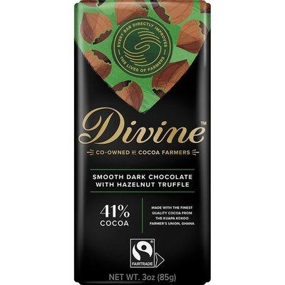 Divine Chocolate Dark Chocolate Hazelnut Truffle Large Bar 3oz
