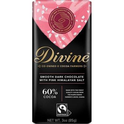 Divine Chocolate Dark Chocolate with Pink Himalayan Salt Large Bar 3oz