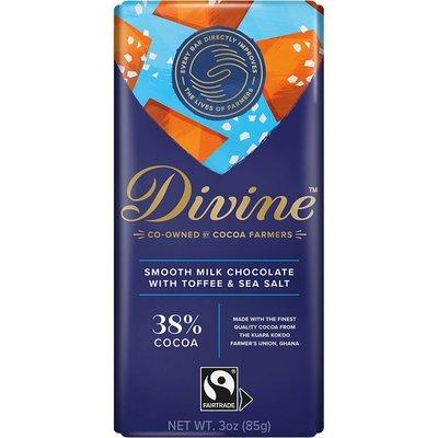 Divine Chocolate Milk Chocolate with Toffee & Sea Salt Large Bar 3oz