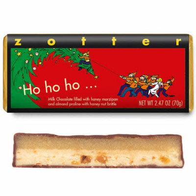 Zotter Chocolate Ho Ho Ho Holiday Hand-scooped Chocolate