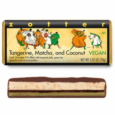 Zotter Chocolate Tangerine Matcha Coconut Vegan Hand-scooped Chocolate