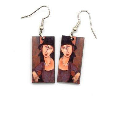 Dunitz & Co Modigliani Art Dangle Earrings