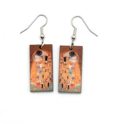 Dunitz & Co The Kiss Art Dangle Earrings