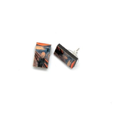 Dunitz & Co The Scream Art Stud Earrings
