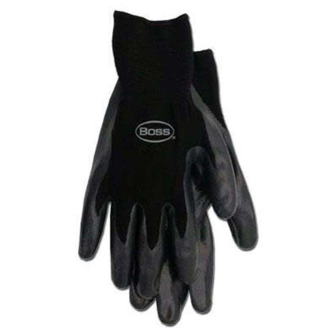 Boss Nitrile Gloves - Large Pack brown trim