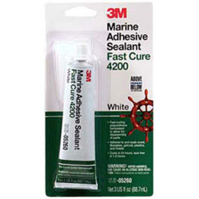 3M 4200 Fast Cure White Adhesive Sealant 3oz Tube