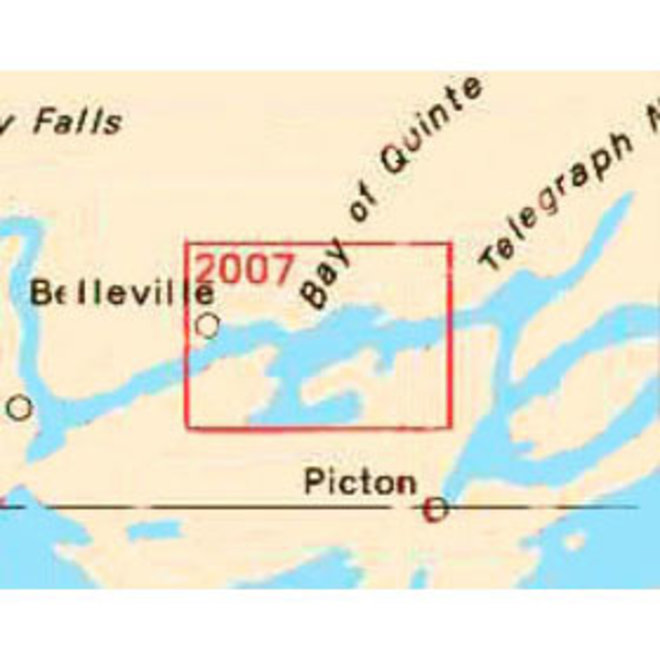 Belleville to Telegraph Narrows Chart