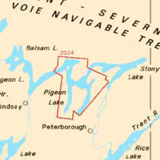 Buckhorn to Bobcaygeon Includes Chemong Lake Chart