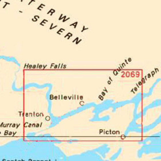 Bay of Quinte Picton to Presquile Bay Chart