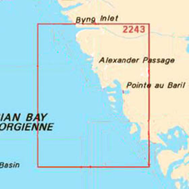 Bateau Island to Byng Inlet Chart