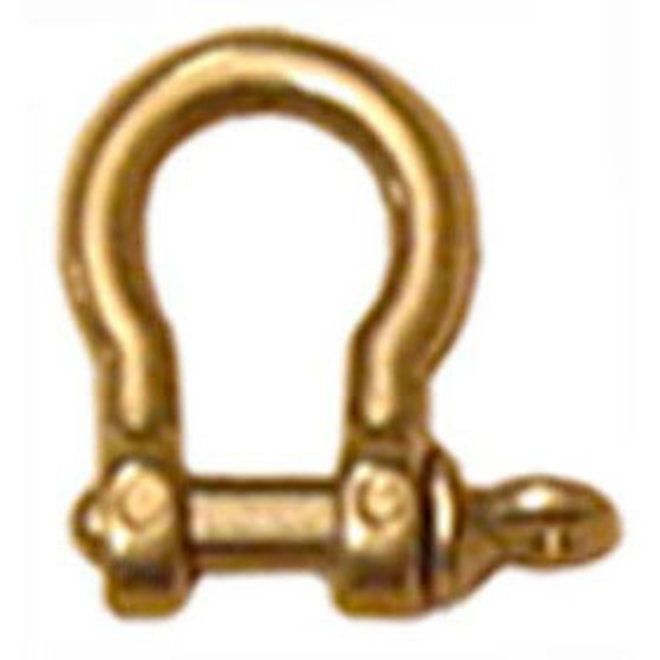 Bow Shackle 4mm Brass