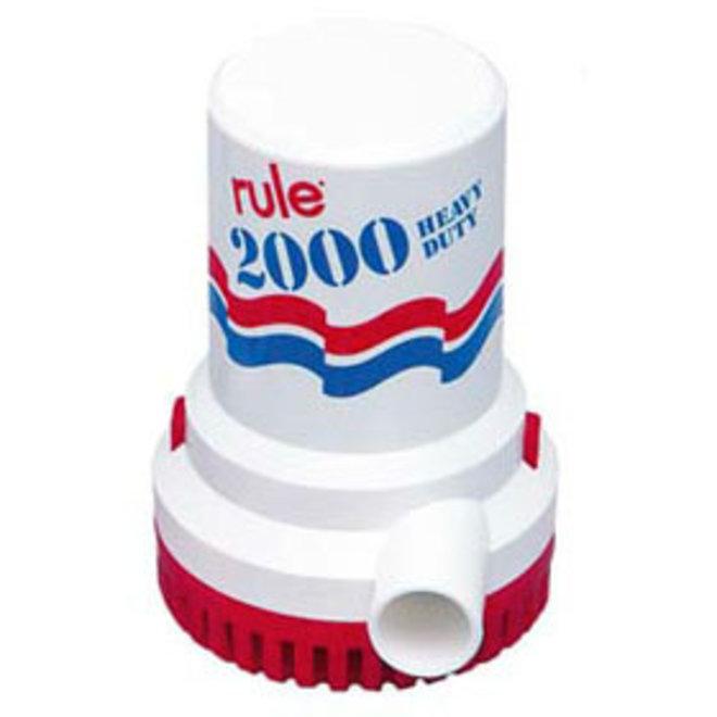 Bilge Pump 2000 Manual Round Base 1-1/8 Hose