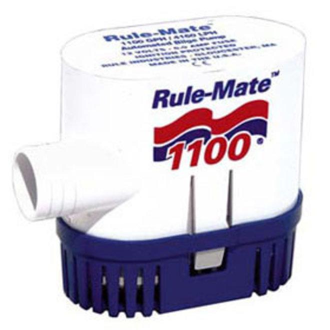 Bilge Pump 1100 Auto Rect Base 1-1/8 Hose