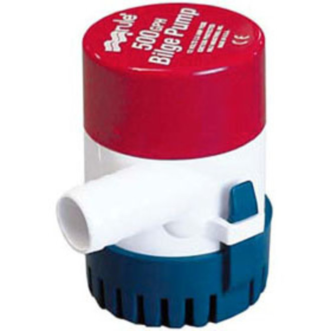Bilge Pump 500 Manual Round Base 3/4 Hose