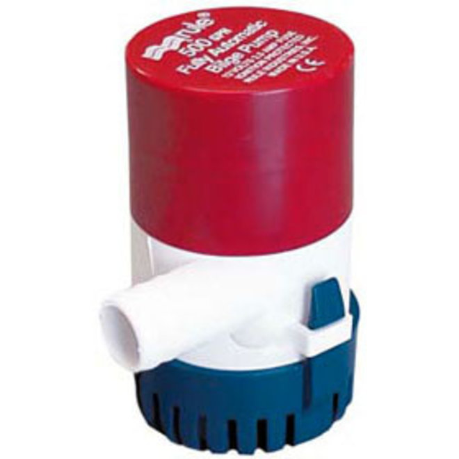 Bilge Pump 500GPH Automatic Round Base 3/4 Hose
