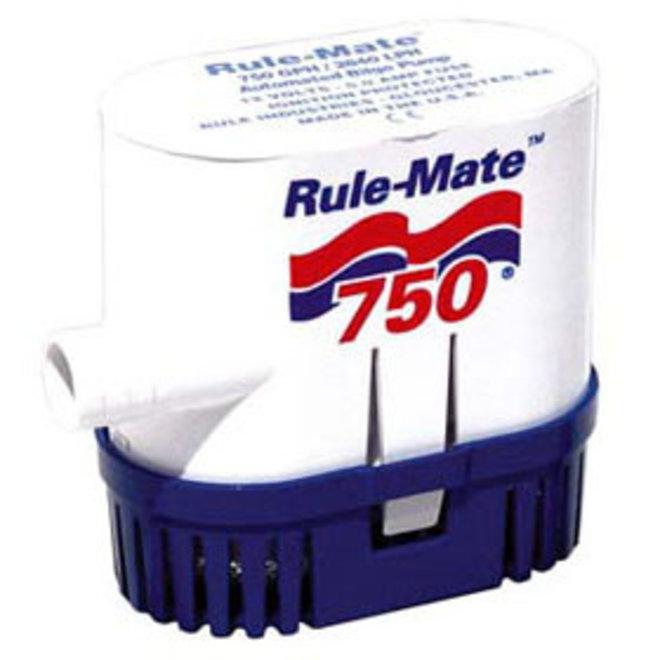 Bilge Pump 750 Automatic Rect Base 3/4 Hose