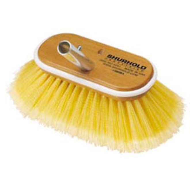 Deck Brush 6in Soft Yellow