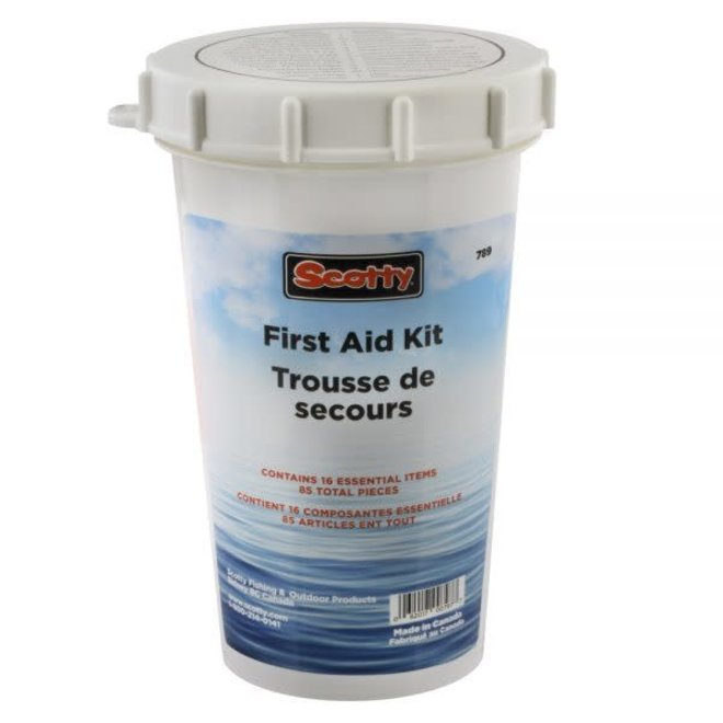 Boaters First Aid Kit - white container