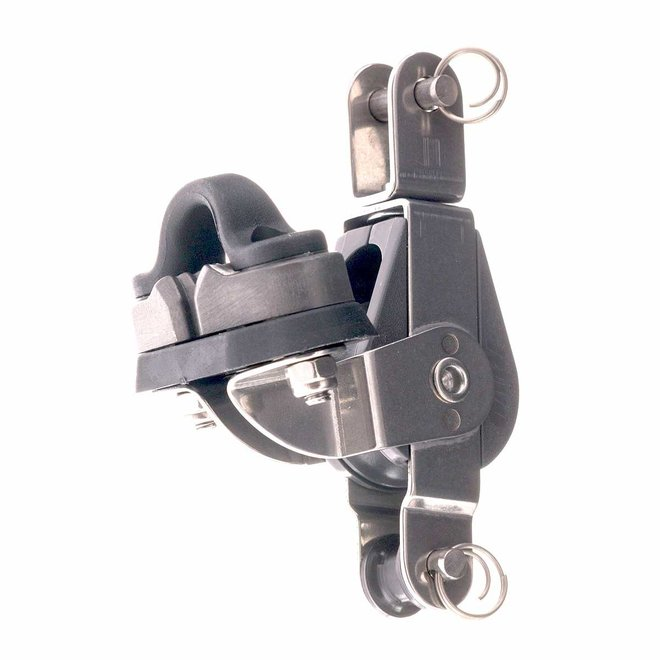 28mm Nova Single Block with Cleat Becket and Swivel