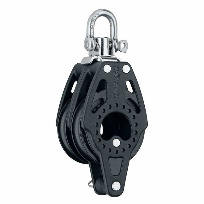 57mm Carbo Double Block with Becket and Swivel