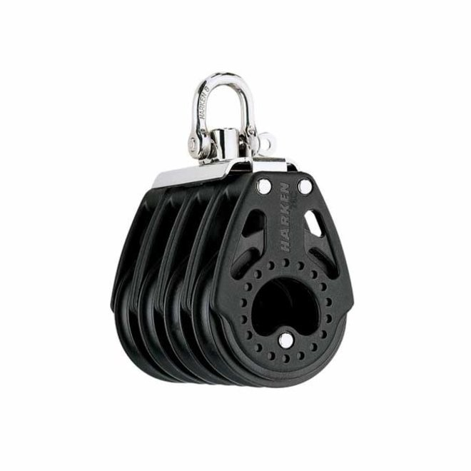 75mm Carbo Quad Block with Swivel