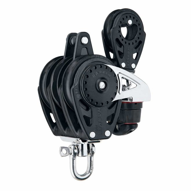75mm Carbo Ratchamatic Triple Block w 57mm Single Block Cleat and Becket