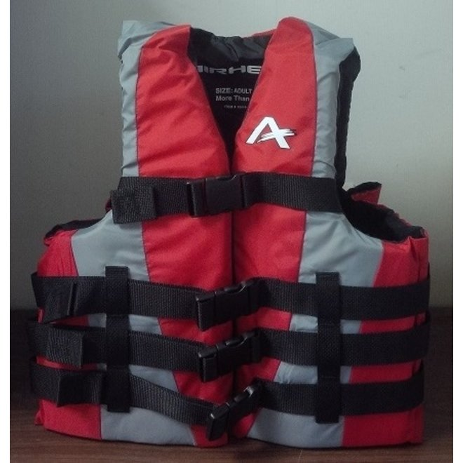 4 Buckle Life Vest S/M Red/Grey