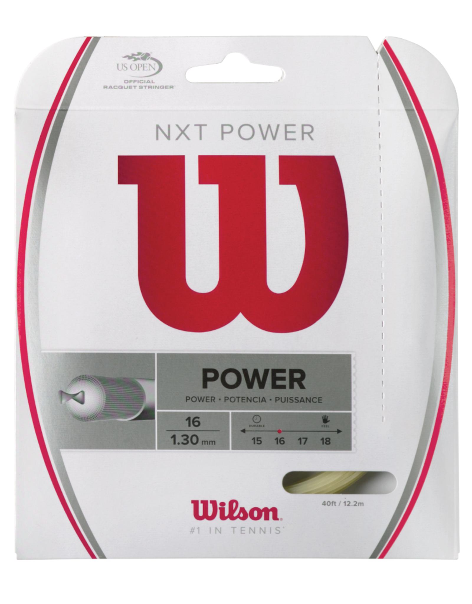 WILSON NXT POWER 16 FULL SET (NATURAL)