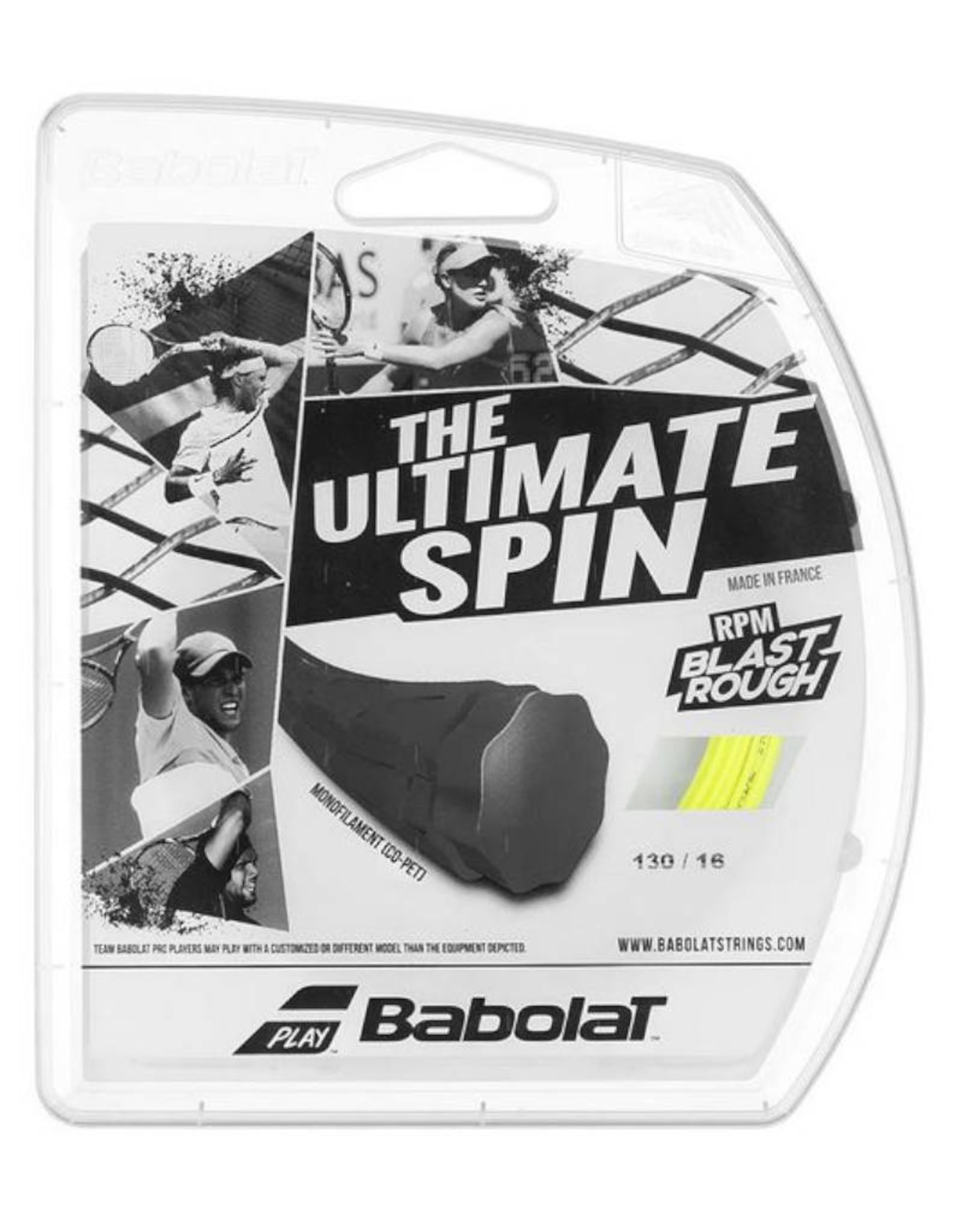 BABOLAT RPM BLAST ROUGH 16 FULL SET (YELLOW)