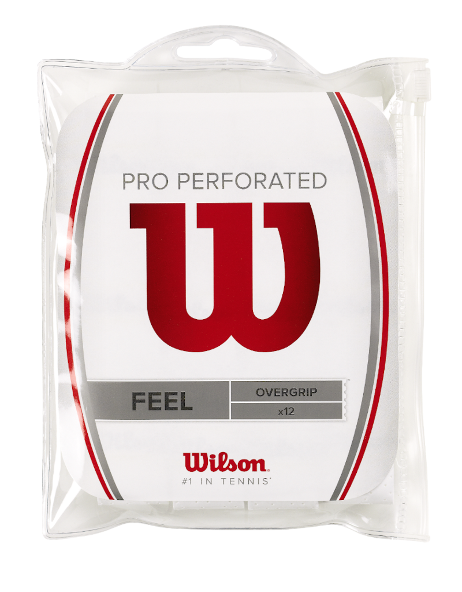 WILSON PRO PERFORATED 12 PACK OVERGRIP WHITE