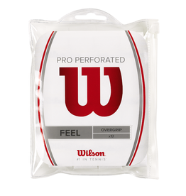 WILSON PRO OVERGRIP PERF 12 PACK WHITE
