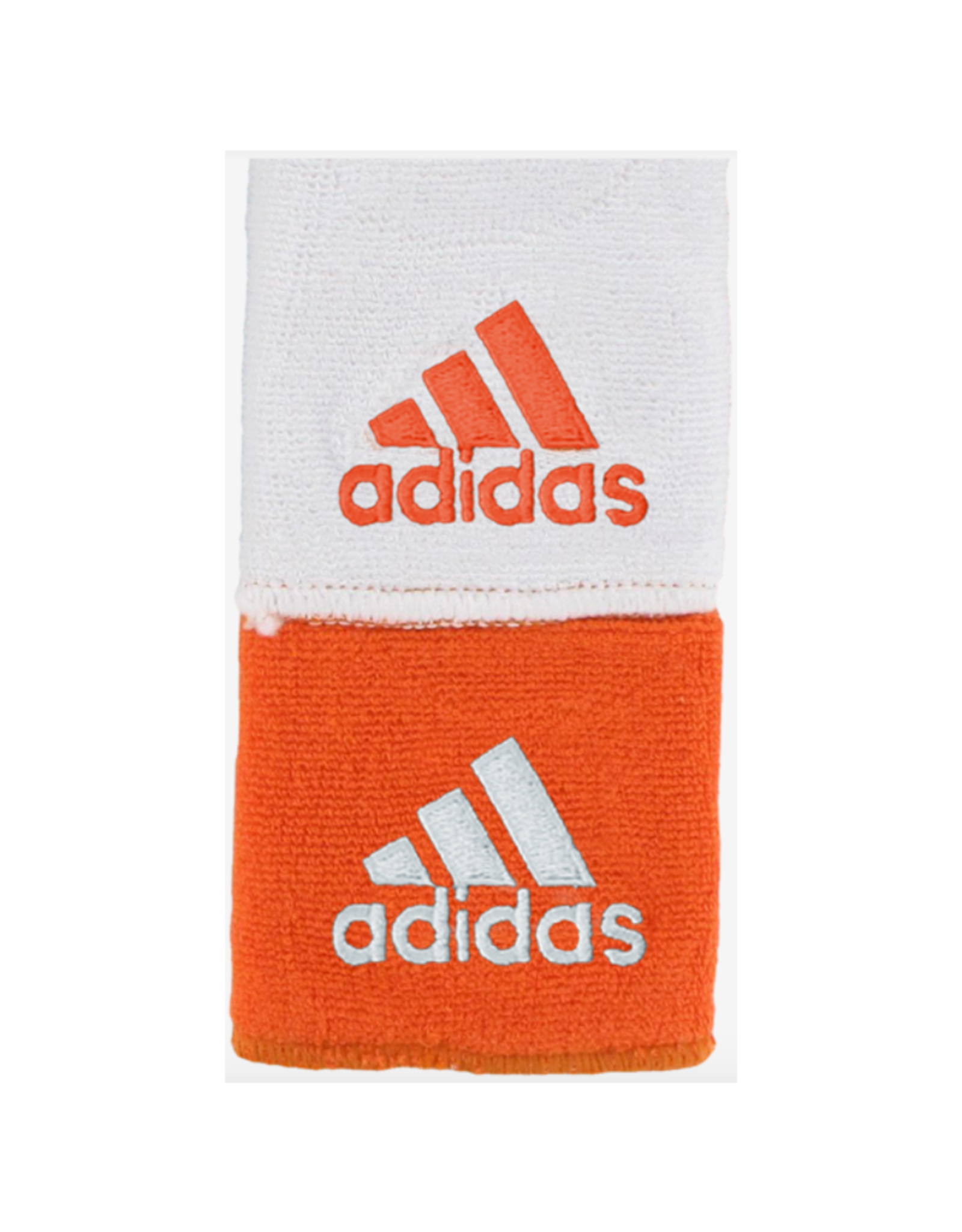 ADIDAS ADIDAS INTERVAL REVERSIBLE WRISTBAND COLLEGIATE ORANGE/WHITE