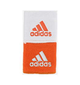 ADIDAS INTERVAL REVERSIBLE WRISTBAND COLLEGIATE ORANGE/WHITE