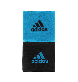 ADIDAS INTERVAL REVERSIBLE WRISTBAND SOLAR BLUE/BLACK