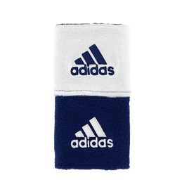 ADIDAS INTERVAL REVERSIBLE WRISTBAND NAVY/WHITE