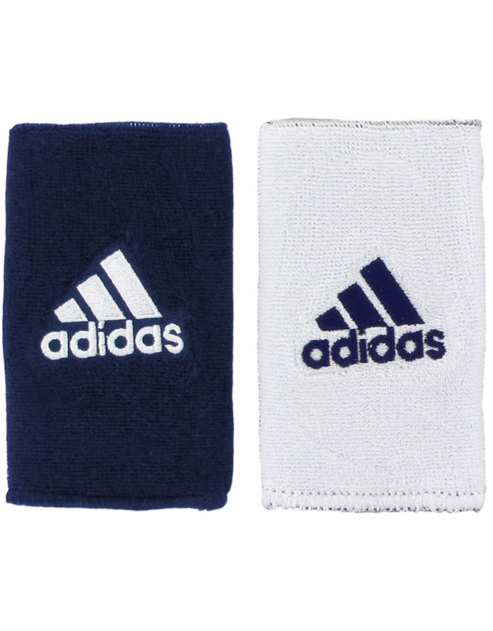 ADIDAS DOUBLE WIDE INTERVAL REVERSIBLE WRISTBAND NAVY/WHITE