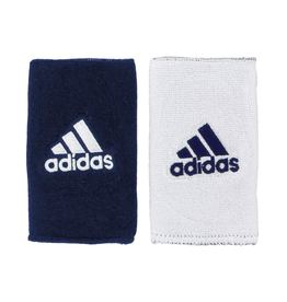 ADIDAS ADIDAS DOUBLE WIDE INTERVAL REVERSIBLE WRISTBAND NAVY/WHITE