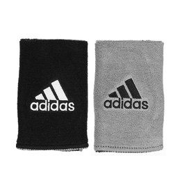ADIDAS DOUBLE WIDE INTERVAL REVERSIBLE WRISTBAND BLACK/GREY