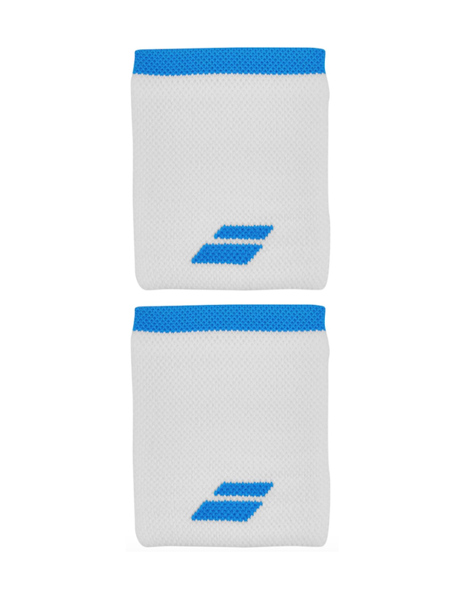 BABOLAT BABOLAT LOGO WRISTBAND WHITE/BLUE